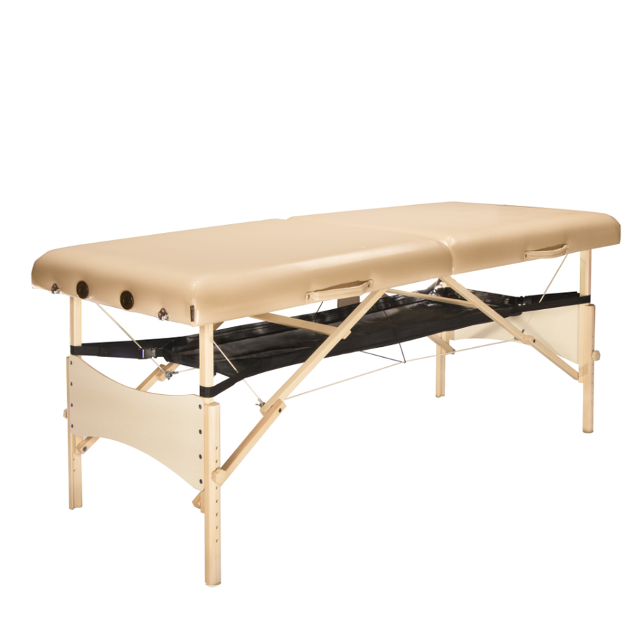 Master Massage Hammock, Porta Shelf, Wood-Frame Portable Massage Table Storage Shelf for Bolsters, Cushions, Pillows, Sheets and Accessories, Creates More Space Under Your Table (massage table not included)