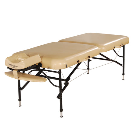 "Master Massage® 30"" ProAir™ Aluminum Portable Massage Table Package with NanoSkin™ - Mushroom"