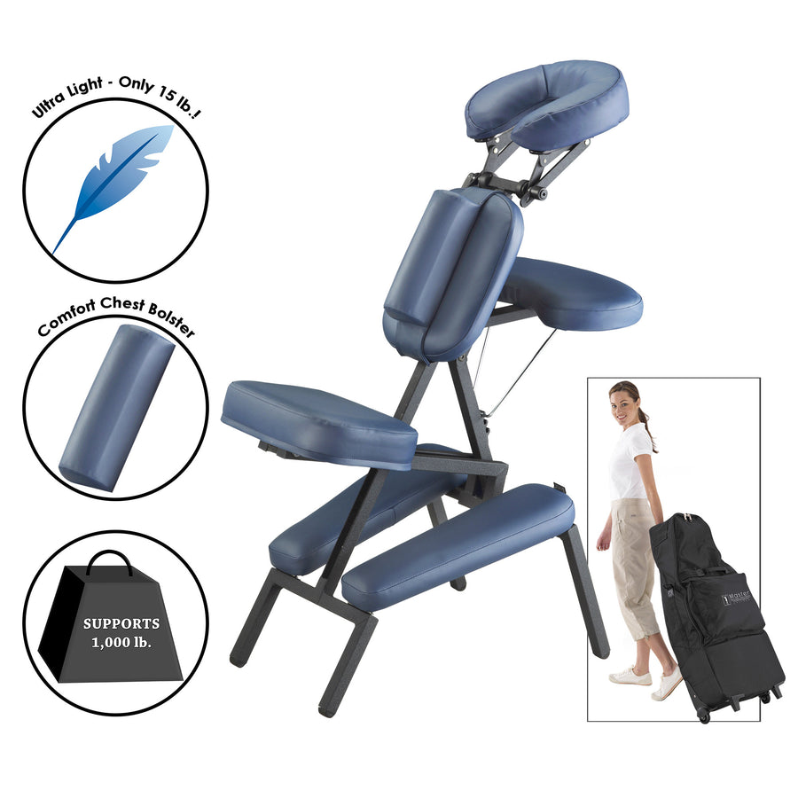 Master Massage - The PROFESSIONAL™ Portable Massage Chair Sports Therapists  lightweight chair