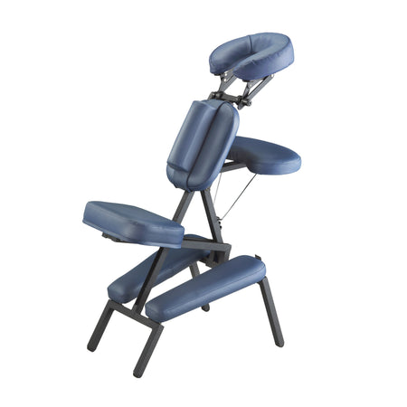 Master Massage - The PROFESSIONAL™ Portable Massage Chair Package with Wheeled Case, Royal Blue