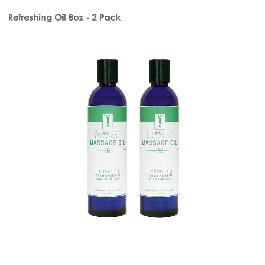 Master Massage Refresh organic Aromatherapy Massage Oil pack of 2