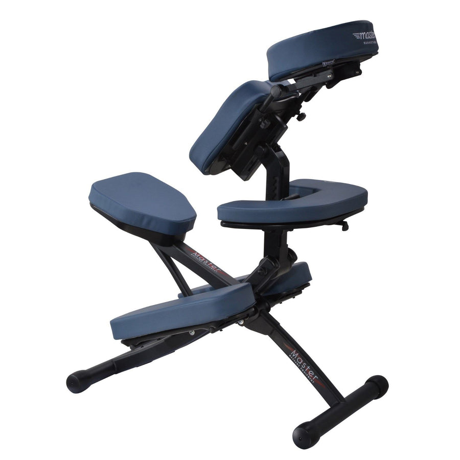 Master Massage Rio Portable aluminum Massage Chair blue