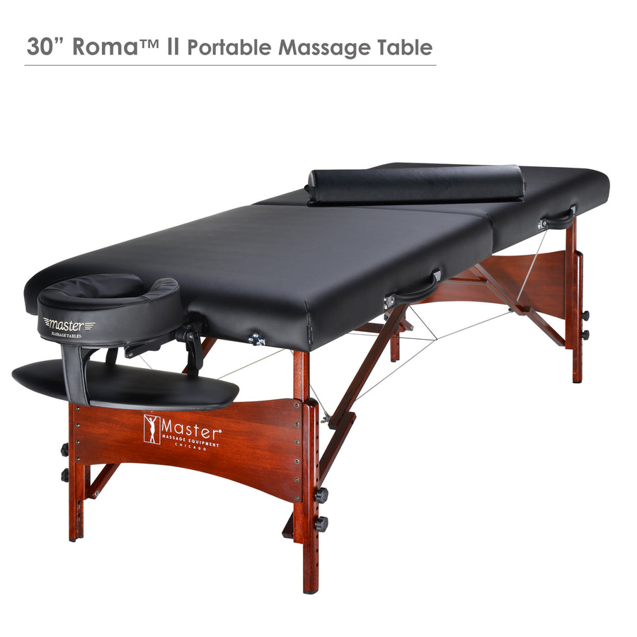 "Master Massage 30"" ROMA Portable Therma-Top Massage Table Black"