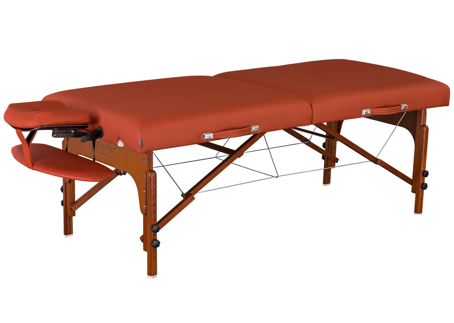 "Master Massage 31"" SANTANA Portable Table Mountain Red"
