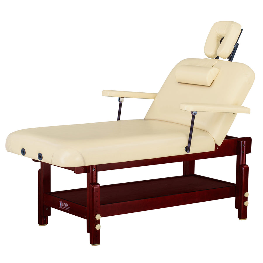 "Master Massage 31"" SPAMASTER™ Stationary Wooden Massage table"