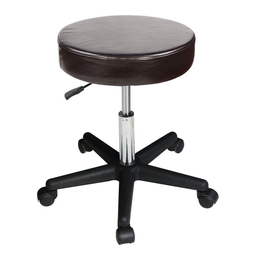 Master Massage Beauty Rolling Swivel Hydraulic Massage Stool chocolate
