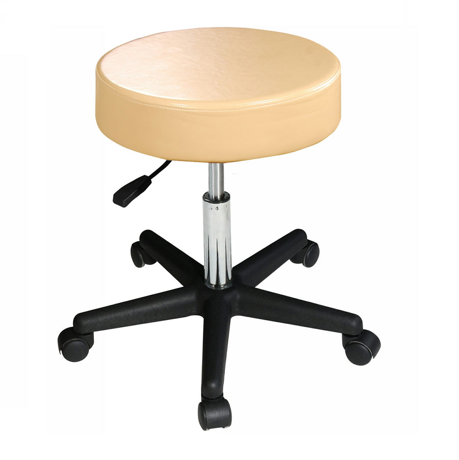 Master Massage Rolling  swivel Stool cream