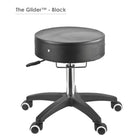 Master Massage Adjustable Glider rolling Stool black