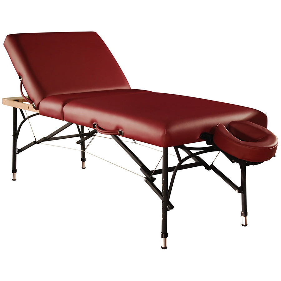 "Mt Massage 29"" Violet Tilt Salon Portable Aluminum Massage Table Package 3 Section Liftback Tilting Backrest Cream"