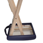 Master Massage Lightweight wooden swivel Folding  Stool royal blue