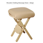 Master Massage Lightweight wooden swivel Folding  Stool cream