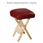 Master Massage Lightweight wooden swivel Folding  Stool burgundy