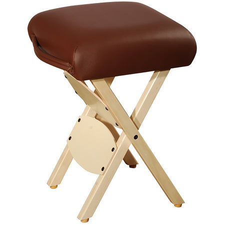 Master Massage Wooden Folding Massage Stool, Chocolate