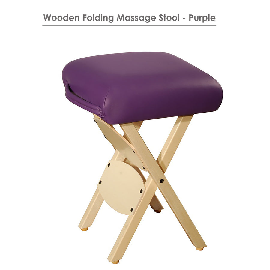 Master Massage Lightweight wooden swivel Folding  Stool purple