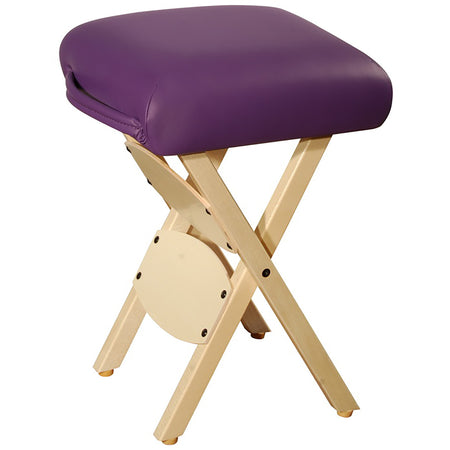 Master Massage Wooden Folding Massage Stool, Purple