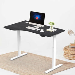 "Hi5 Electric Height Adjustable Left Handed Standing Desks (55""x33"") for Home Office Workstation with 4 Color Option"