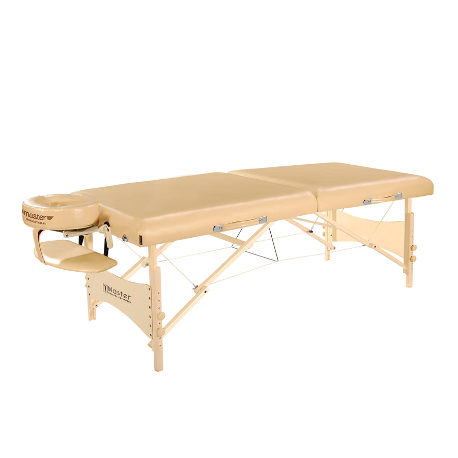 "Master Massage 30"" Belford™ Portable Massage & Exercise Table Package, Cream Luster"