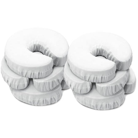 Master Massage Universal Face Pillow Cushion Cradle Headrest Covers, 6 Pack, Beige, 100% all cotton, Machine Washable