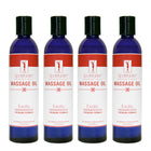 Master Massage Unscented Water Soluble Blend Massage Oil 4 bottle