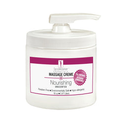 Master Massage - Organic & Unscented Nourishing Massage Cream - All Natural - Great for Your Skin!!!