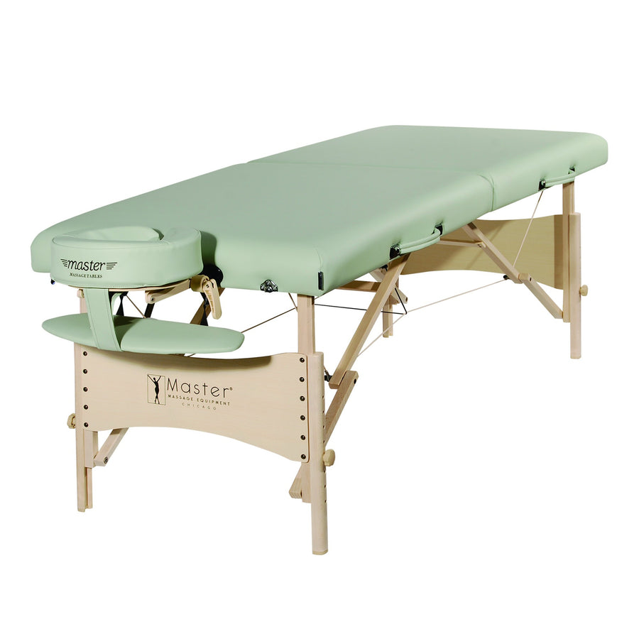 "Master Massage 28"" Paradise Pro Portable Massage Table Package in Lily Green"