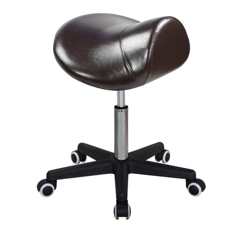 Master Massage Ergonomic Swivel Saddle Stool coffee