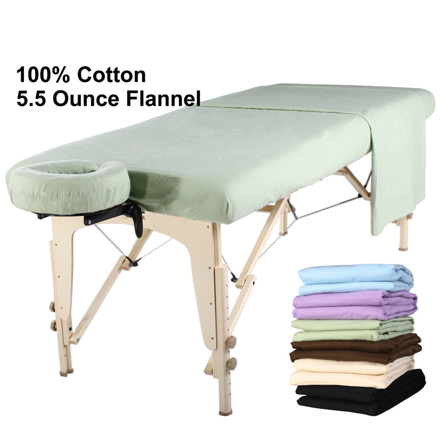 Master  Massage flannel cover sheet green