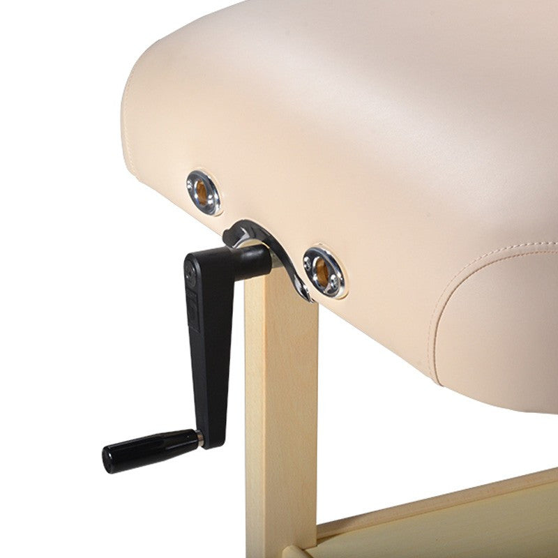 "Master Massage 30"" Sheldon Stationary Massage Table Cream"