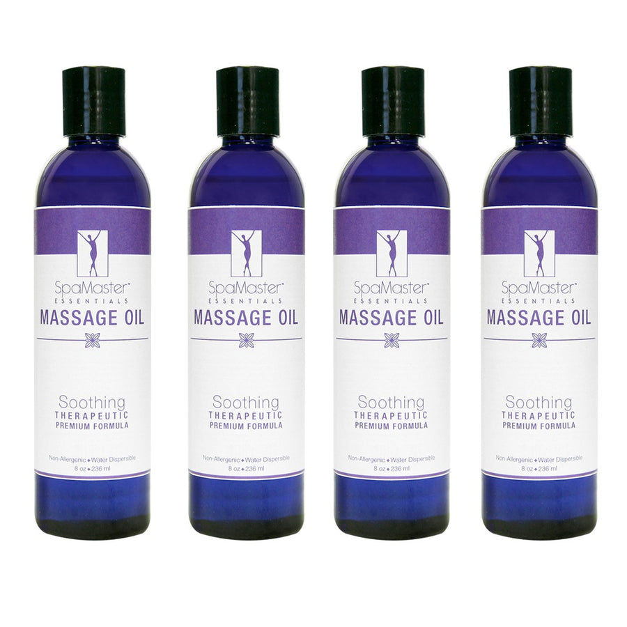 Master Massage - Organic & Unscented Water-Soluble Blend Massage Oil - Choose from 7 Sizes & Quantity Options!