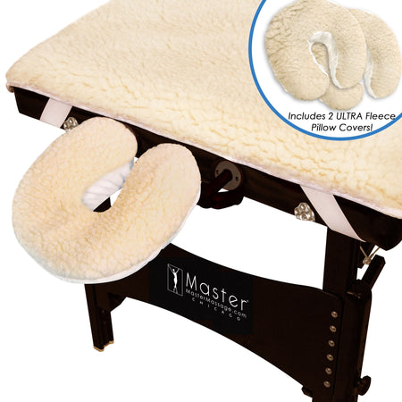 Master Massage Ultra™ Fleece Massage Table Pad Set - Now 2X Thicker