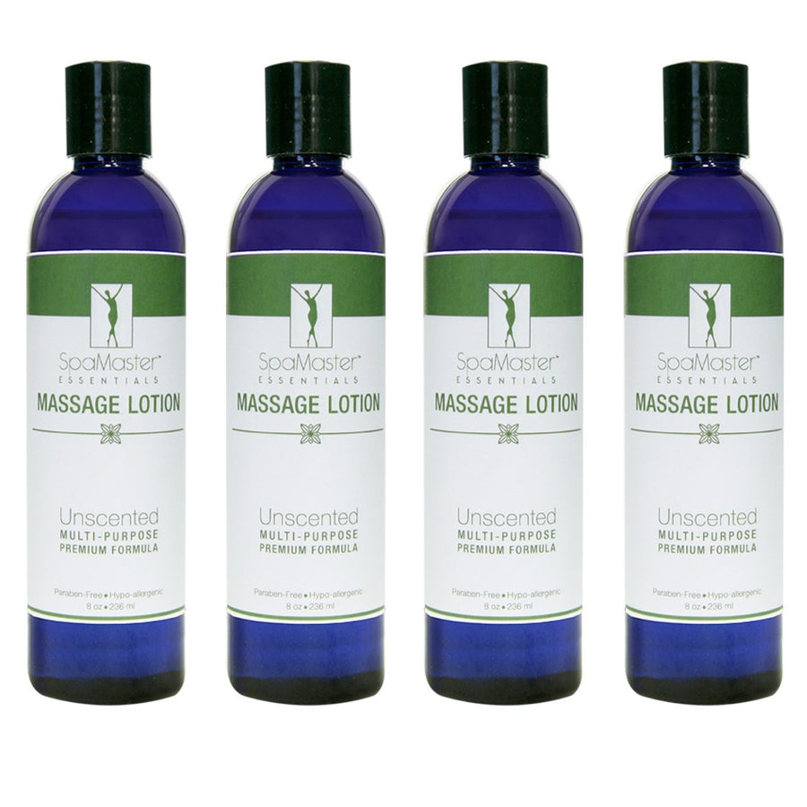 Master Massage  Organic & Unscented  Massage Lotion pack of 4