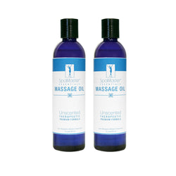 Master Massage - Organic & Unscented Water-Soluble Blend Massage Oil - 2 pack