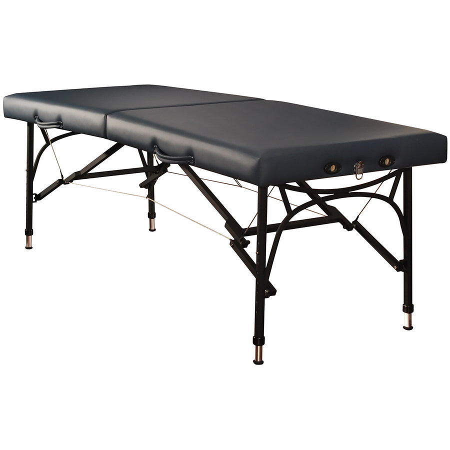 "Mt Massage 28"" Violet Sport Size Ultra Lightweight Aluminum Portable Massage Table Package Black"