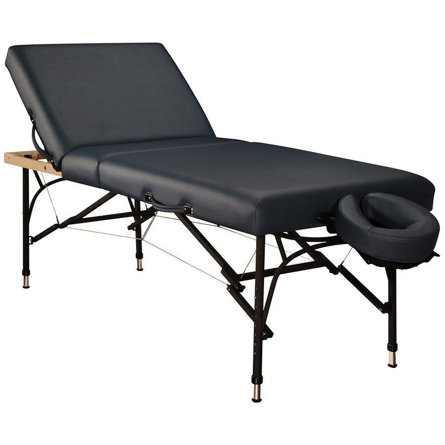 "Mt Massage 29"" Violet Tilt Salon Portable Aluminum Massage Table Package 3 Section Liftback Tilting Backrest Royal Blue"