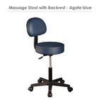 Master Massage Pneumatic Rolling Stool with Backrest blue