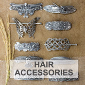 Oberon Design Britannia Metal Barrettes and Hair Accessories