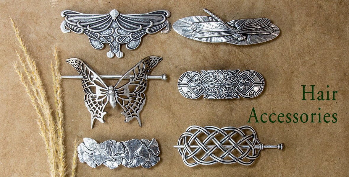 Britannia Metal Hair Clips