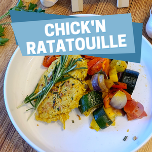 Vegan Chick'n Sheet Pan Ratatouille