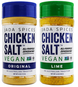 chicken salt vegan and vegetarian seasoning original and lime flavors