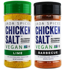 chicken salt vegan and vegetarian seasoning lime and barbecue flavors