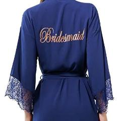 Navy cotton Bridesmaid Dressing Gown