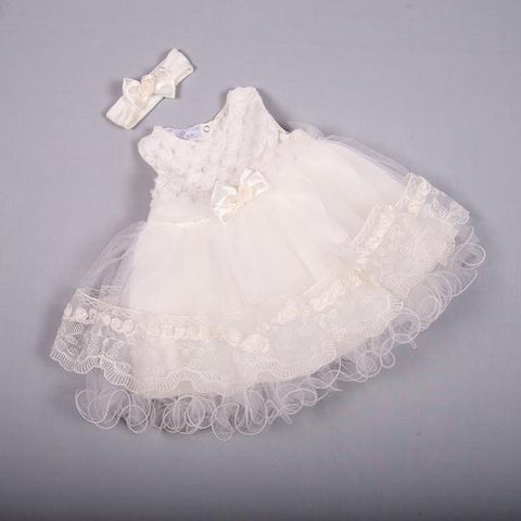 Lace & Frill Christening gown