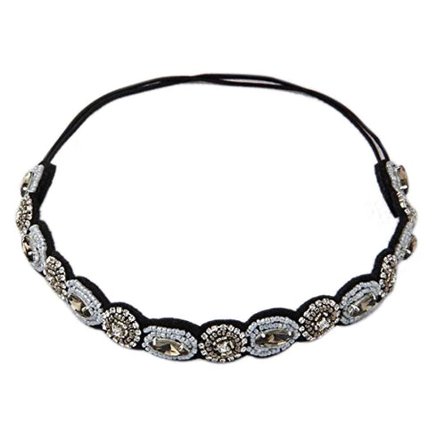 Black & Grey embellished headband - Flower Girl