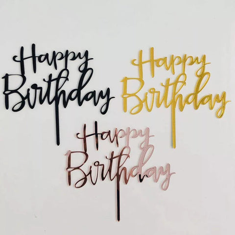 Acrylic Happy Birthday Cake Topper