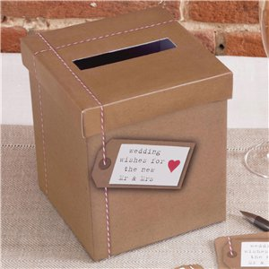 Just My Type Wedding Wishes Post Box