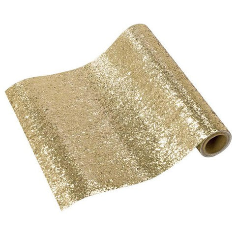 Gold Glitter Table Runner - 1.8m