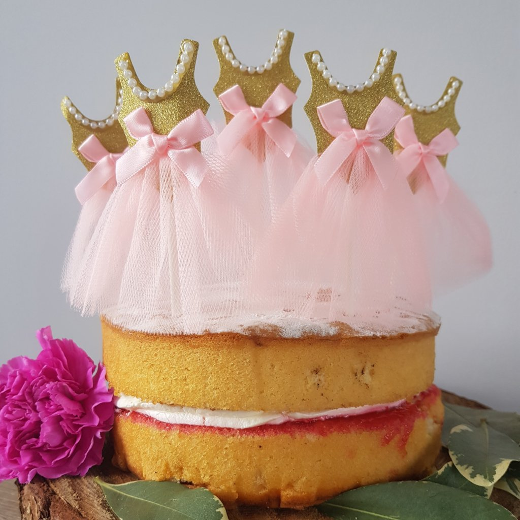Tulle Dress Cake Toppers x5