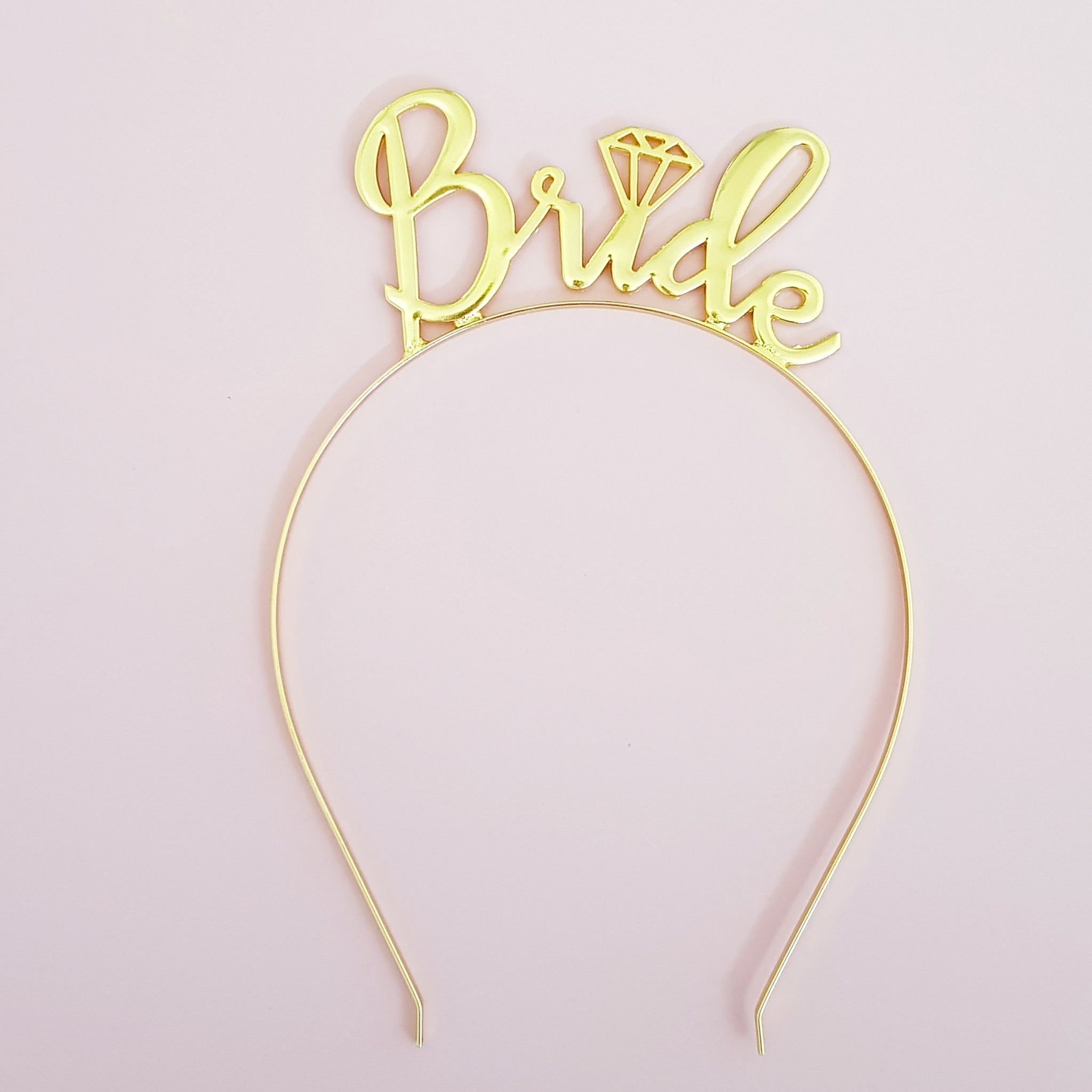 Bride hair band in Gold