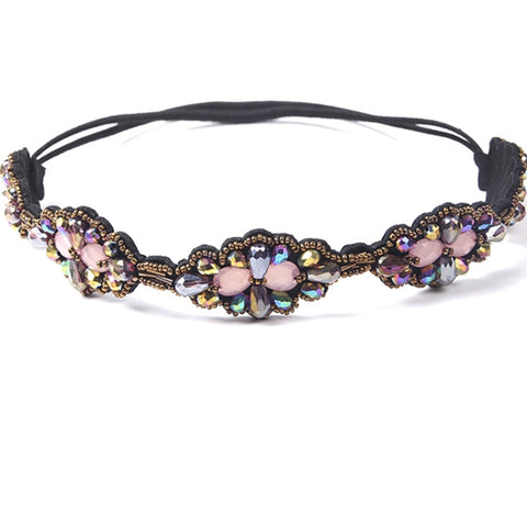 Ethnic Embellished Multi Colour Beaded  Headband