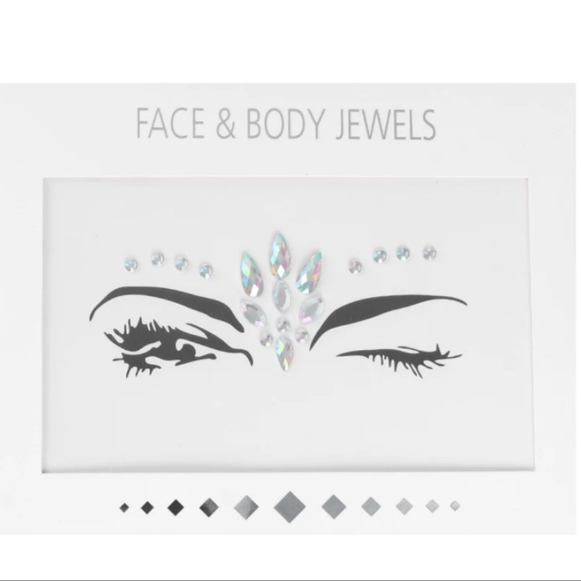 3D Face Tattoo Crystal Stickers